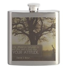 Good Day Quote on Jigsaw Puzzle Flask