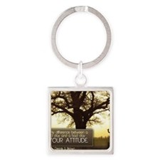 Good Day Quote on Jigsaw Puzzle Square Keychain