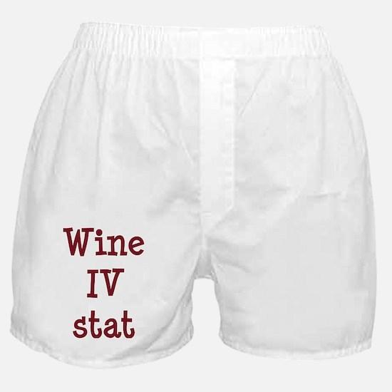 FIN-wine-iv-stat-CROP Boxer Shorts