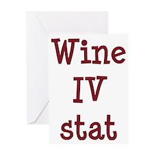 FIN-wine-iv-stat-CROP Greeting Card