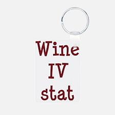 FIN-wine-iv-stat-CROP Keychains