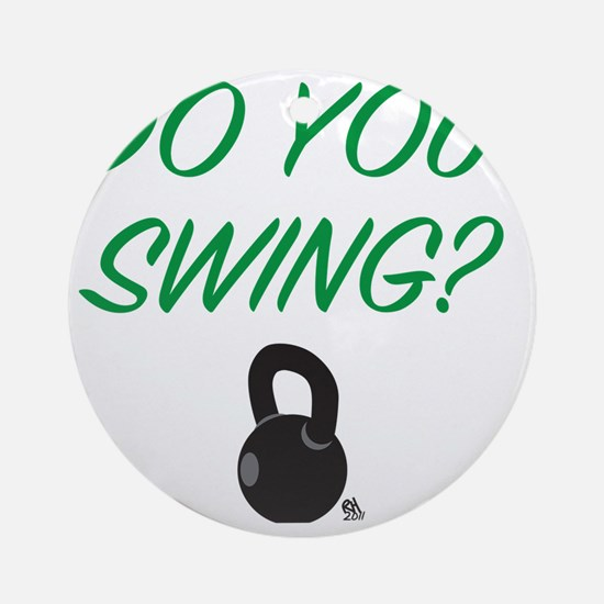 swing_girl Round Ornament