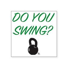 "swing_girl Square Sticker 3"" x 3"""
