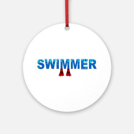 Blue Swimmer Ornament (Round)