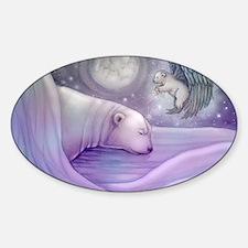 polar bear and angel cp Decal