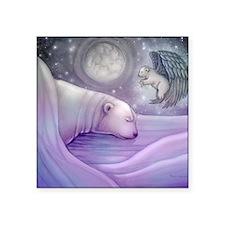 "polar bear and angel cp Square Sticker 3"" x 3"""