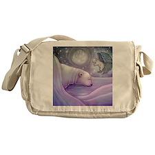 polar bear and angel cp Messenger Bag