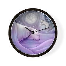 polar bear and angel cp Wall Clock