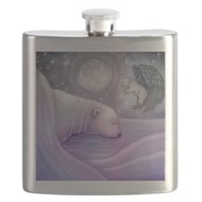 polar bear and angel cp Flask
