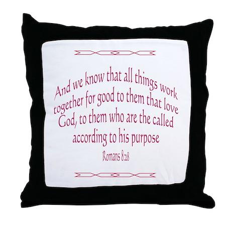Romans 8:28 - Throw Pillow