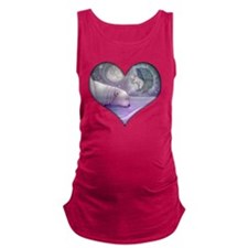 polar bear and angel cp heart Maternity Tank Top
