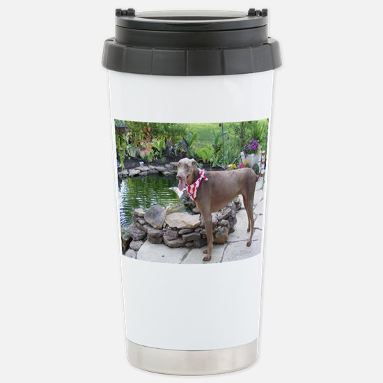 Paint by flowers Stainless Steel Travel Mug