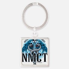 NMCT-Caduceus-Blue Square Keychain