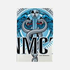 NMCT-Caduceus-Blue Rectangle Magnet