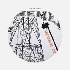 transmission tower Round Ornament
