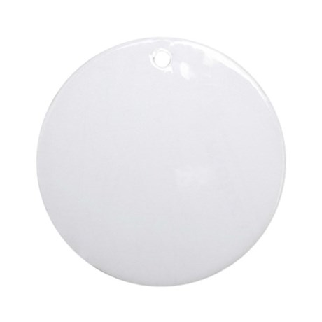 transmission tower white Round Ornament