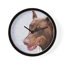 Paint river dog Wall Clock