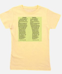 Footprints  in the Sand Yellow Girl's Tee