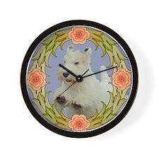 wreath2crop Wall Clock