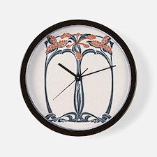 jugend 1900 design 2 Wall Clock