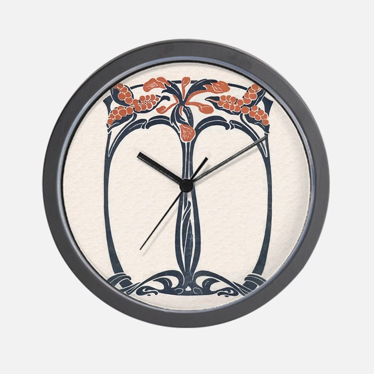 jugend 1900 design 2 Wall Clock