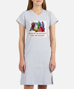 Christmas jesus is the reason Women's Nightshirt