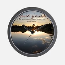 Respect Yourself Quote Wall Clock