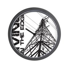 transmission tower edge 1 Wall Clock