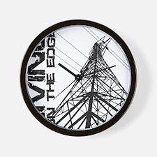 transmission tower edge 1 Wall Clock