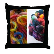 01bright Throw Pillow