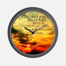Perfecting Yourself Quote Wall Clock