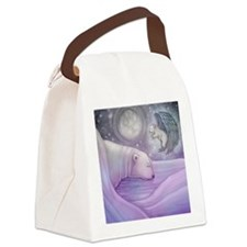 polar bear and angel square Canvas Lunch Bag