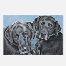 two black labs online sto Postcards (Package of 8)