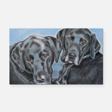 two black labs online store Rectangle Car Magnet