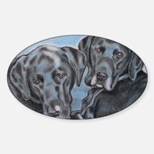 two black labs online store Decal