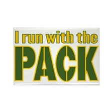 irun-with-the-pack Rectangle Magnet