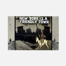 laptop_skin_NY is a Friendly Town Rectangle Magnet