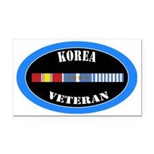 korea-4-1-oval Rectangle Car Magnet