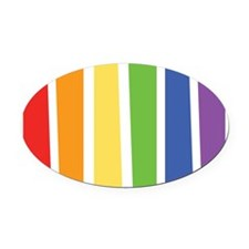 LGBT Oval Car Magnet