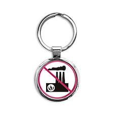 No Pollution Round Keychain