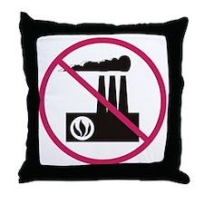 No Pollution Throw Pillow