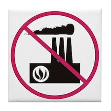 No Pollution Tile Coaster