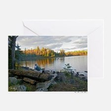 tending the fire 11.5x9 200 Greeting Card