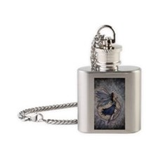 Midnight Blue cp Flask Necklace