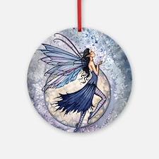 Midnight Blue cp Round Ornament