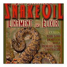 """SNAKE-OIL Square Car Magnet 3"""" x 3"""""""