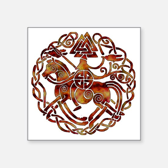 "sleipnir2_fire Square Sticker 3"" x 3"""