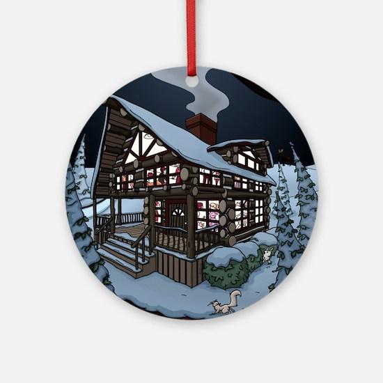 cabin color Round Ornament