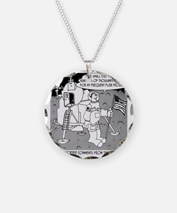 5227_space_cartoon Necklace