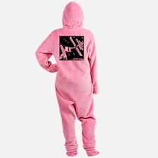 8585_space_cartoon Footed Pajamas